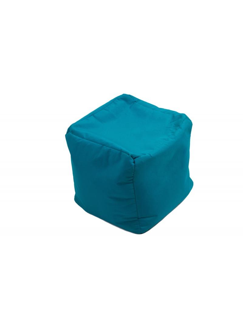 Jumbo bag Pouf Cube repose-pieds Bleu pétrole