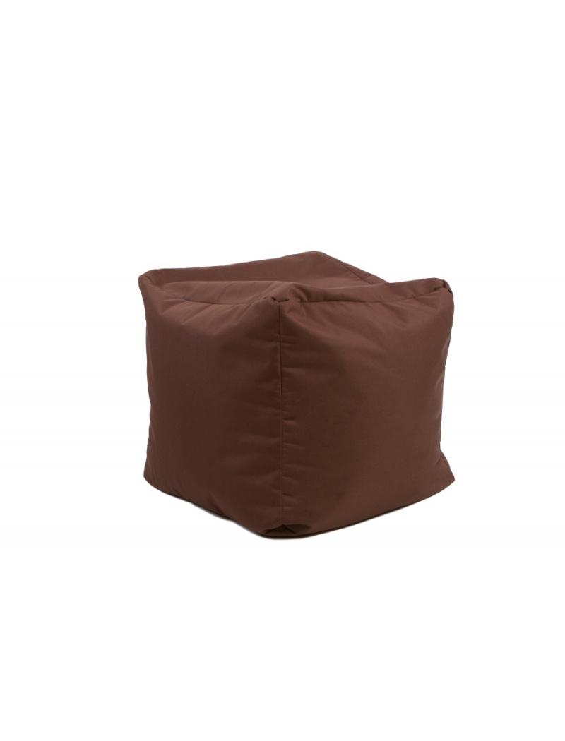 Jumbo bag Pouf Cube repose-pieds Chocolat
