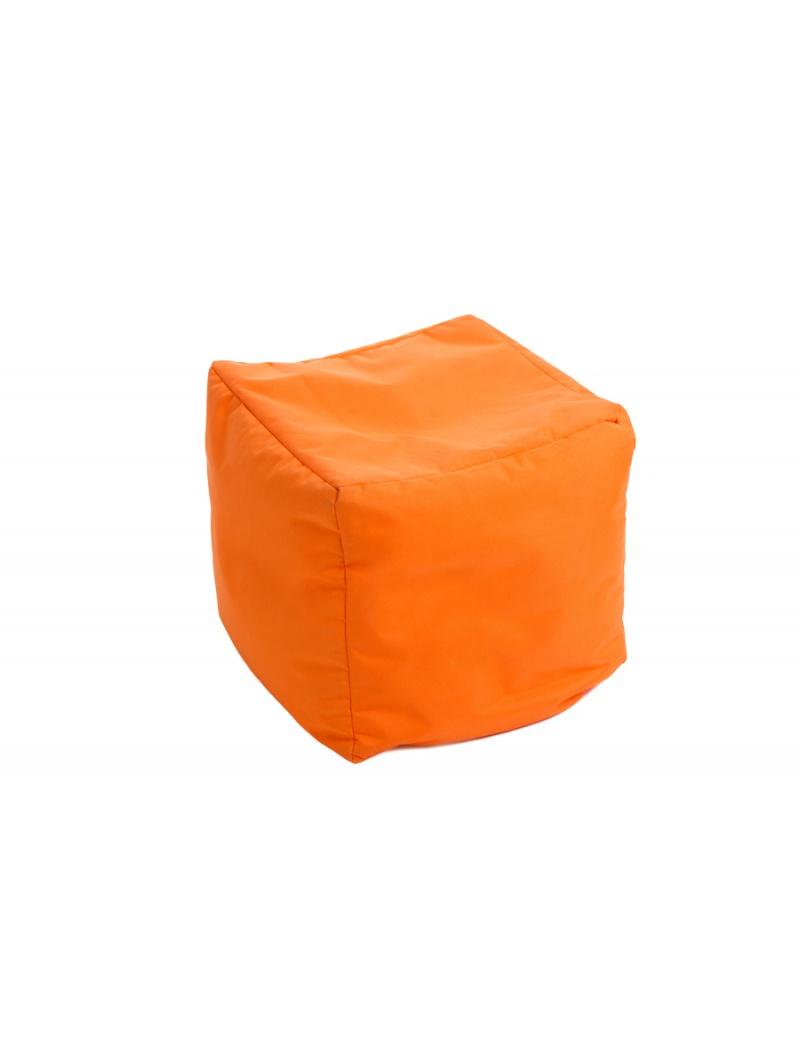 Jumbo bag Pouf Cube repose-pieds Orange