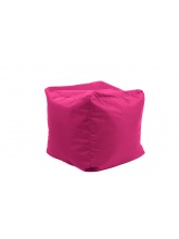 Pouf Cube repose-pieds Rose