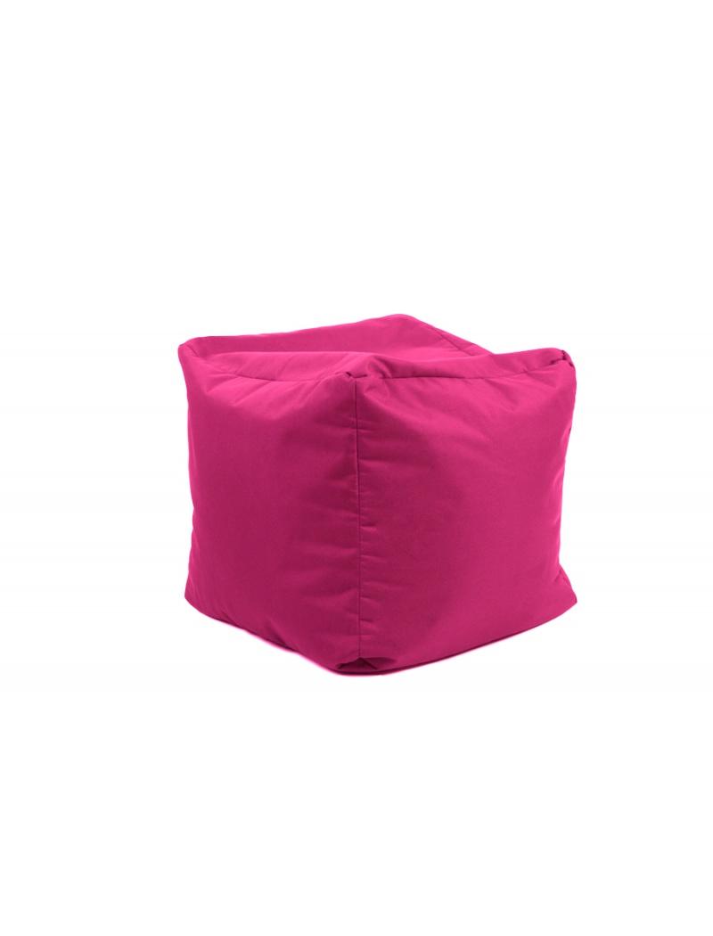 Jumbo bag Pouf Cube repose-pieds Rose