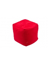 Pouf Cube repose-pieds Rouge