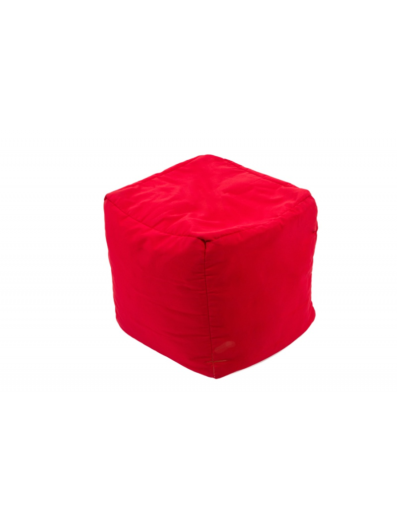 pouf cube repose pieds rouge jumbo bag coussins poufs. Black Bedroom Furniture Sets. Home Design Ideas
