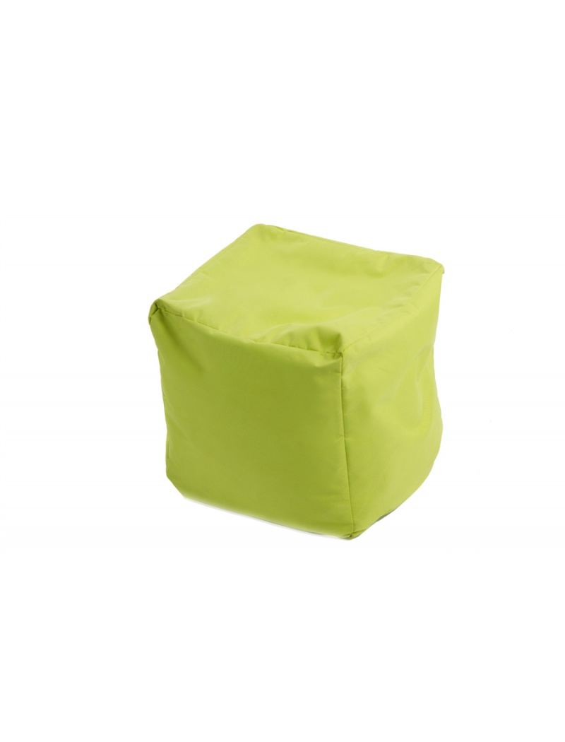 Jumbo bag Pouf Cube repose-pieds Vert anis