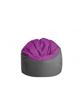 Pouf Bowly Aubergine / Anthracite