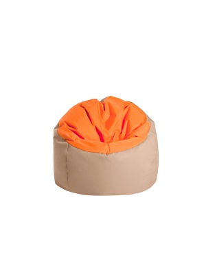 Pouf Bowly Orange / Beige