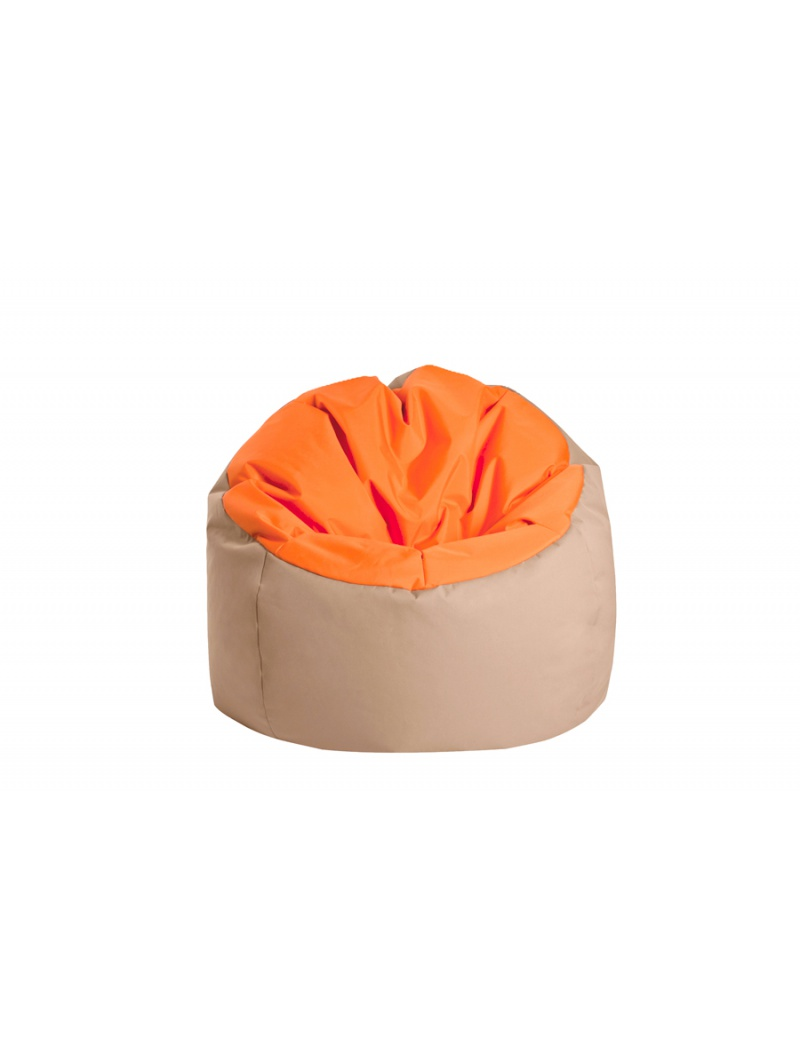 Pouf Bowly Orange / Beige