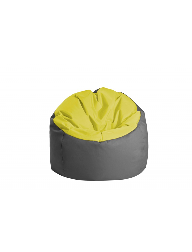 Jumbo bag Pouf Bowly Vert anis / Anthracite