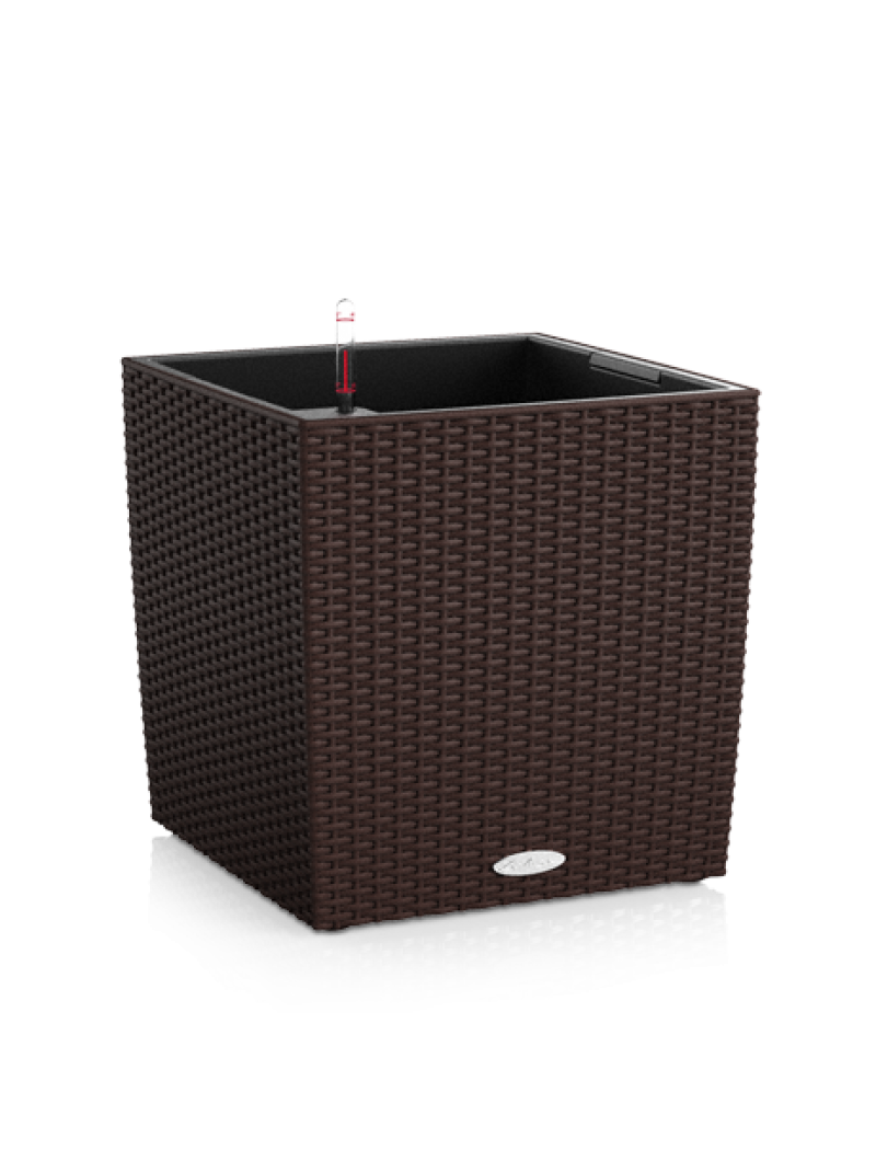 Lechuza Pot Cube Cottage Moka