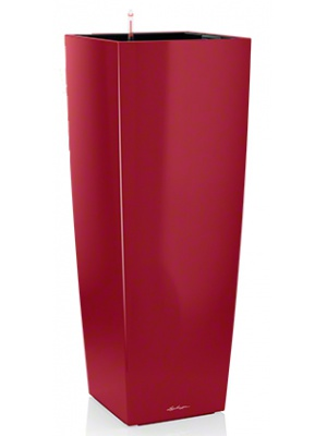 Pot Cubico Alto 40 Rouge Brillant