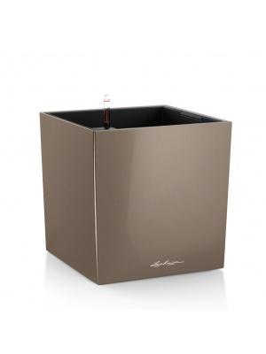 Pot Cube Premium Taupe brillant
