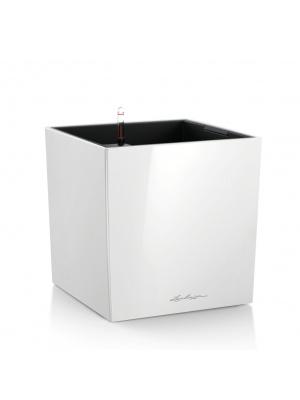 Pot Cube Premium Blanc brillant