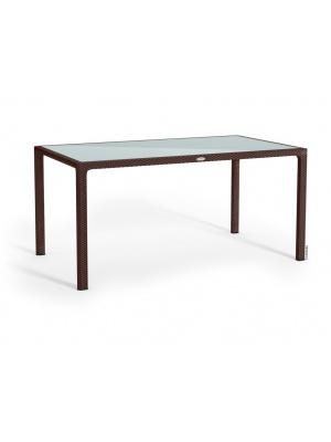Table rectangulaire Moka plateau verre