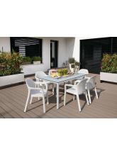 Table rectangulaire blanc plateau HPL