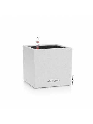 Pot Canto Stone Cube blanc quartz
