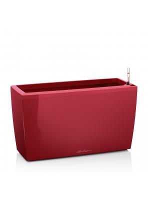 Pot Cararo rouge brillant avec set d'arrosage