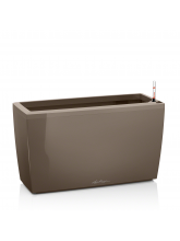 Pot Cararo taupe brillant avec set d'arrosage