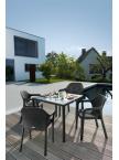 Table rectangulaire Gris granit plateau verre