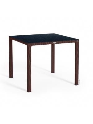 Table carrée Moka plateau HPL
