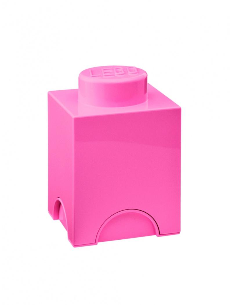 brique lego coffre design lego en plastique rose. Black Bedroom Furniture Sets. Home Design Ideas
