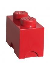 Brique de rangement Lego 2 plots - Rouge