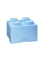 Brique de rangement Lego 4 plots - Bleu ciel