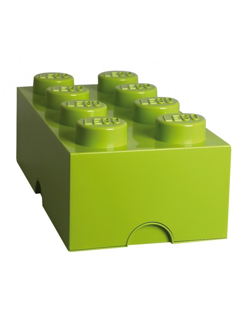 Brique de rangement Lego 8 plots - Vert pomme