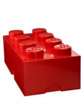 Brique de rangement Lego 8 plots - Rouge