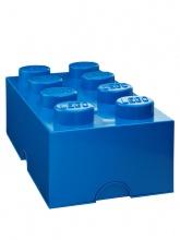 Brique de rangement Lego 8 plots - Bleu