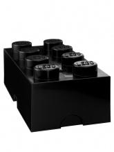 Brique de rangement Lego 8 plots - Noir