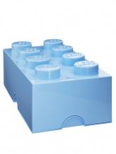 Brique de rangement Lego 8 plots - Bleu ciel