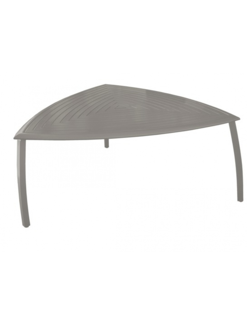 Table triangle Azur aluminium Taupe