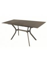 Table Seville 110 aluminium café avec allonge