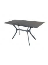 Table Seville 110 aluminium grise avec allonge