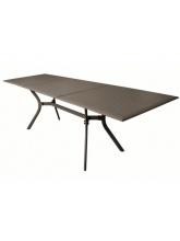 Table Seville 160/240 aluminium café