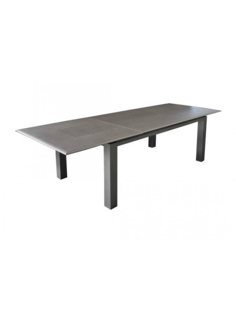 Table Florence 240 aluminium Grise Océo - Tables de jardin en ...