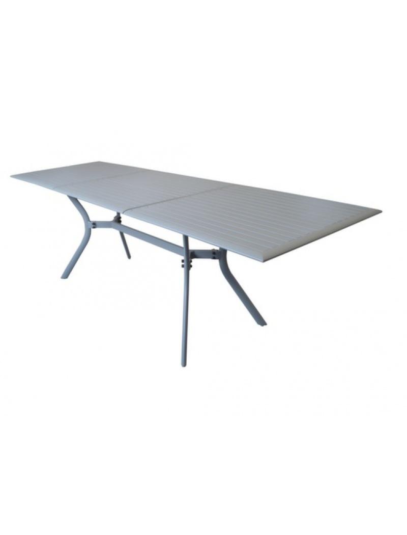 Table Seville 160/240 aluminium taupe
