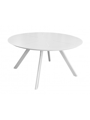 Table ronde Seven 150 alu Blanc