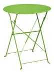 Table de jardin ronde Capri + 2 chaises vertes
