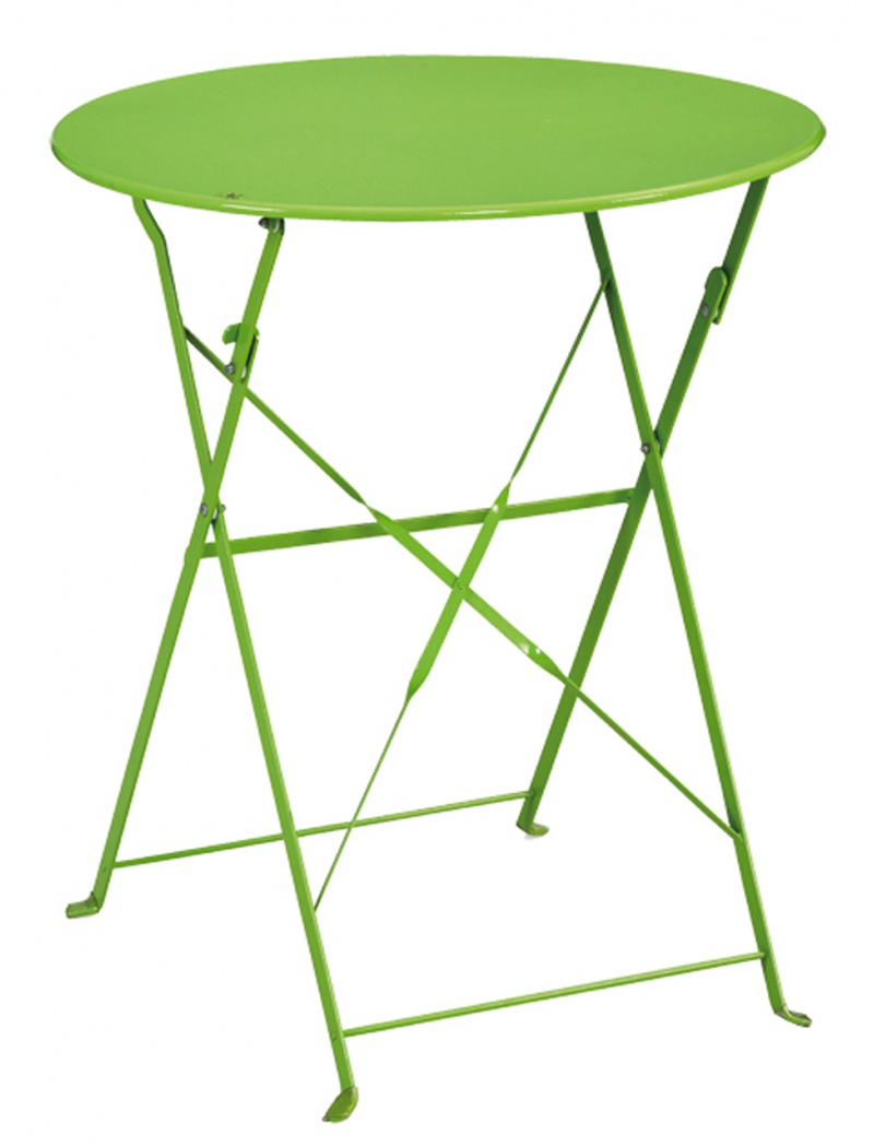 table de jardin ronde capri 2 chaises vertes ozalide tables de jardin en acier jardin concept. Black Bedroom Furniture Sets. Home Design Ideas