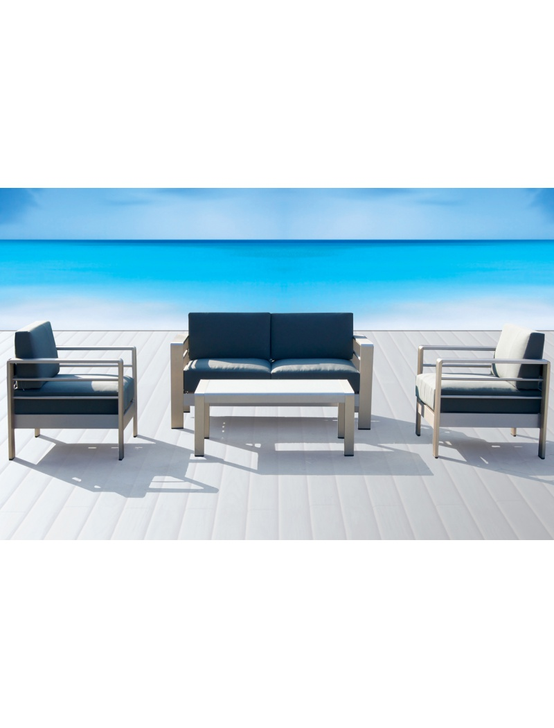 salon de jardin ozalide ensemble galapagos en aluminium. Black Bedroom Furniture Sets. Home Design Ideas