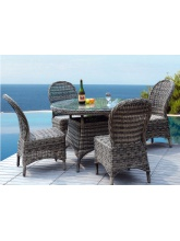 Table de jardin Rio + 4 chaises