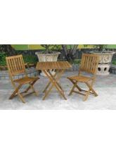 Table de jardin Kuala + 2 chaises
