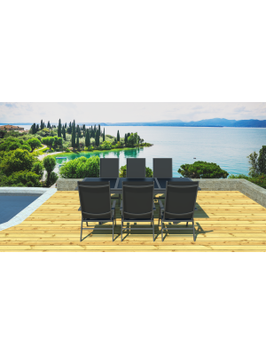 Salon de jardin 6 fauteuils Lynco