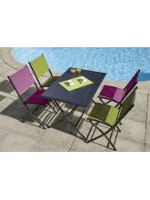 Ensemble de jardin BAYONNE + 4 chaises DIVINE