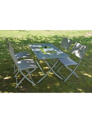 Ensemble jardin HOSSEGOR + 4 chaises DIVINE