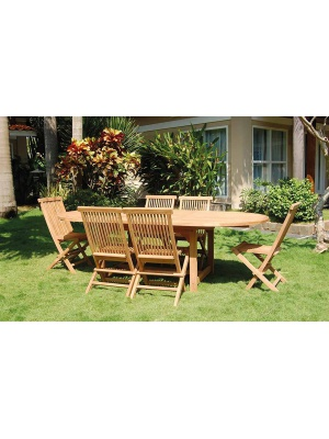 Table de jardin DENPASAR+ 6 chaises GILLY