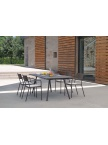 Table de jardin Bridge 160 extensible + 8 fauteuils