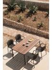 Table de jardin Yard + 4 fauteuils