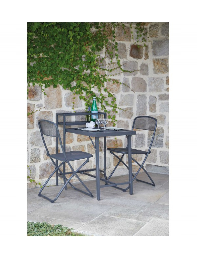Table De Balcon Rome Pliante 2 Chaises Ozalide Salon De Jardin